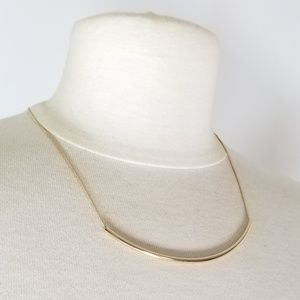 Jewelry - Gold Minimalist Curved Bar Necklace